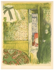 "Edouard Vuillard lithograph ""Interieur a la suspension"""