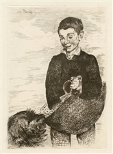 Edouard Manet original etching | Le Gamin (The Urchin - Boy with a Dog)