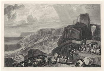 "J. M. W. Turner ""Bow-and-Arrow Castle"" engraving"
