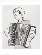 "Roy Lichtenstein ""Girl with Accordion"""