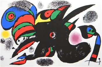 Joan Miro original lithograph | Homage to San Lazzaro, 1975