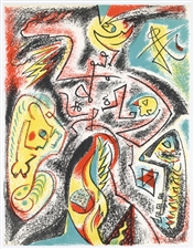 Andre Masson original lithograph, 1969