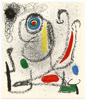 Joan Miro original lithograph, 1968