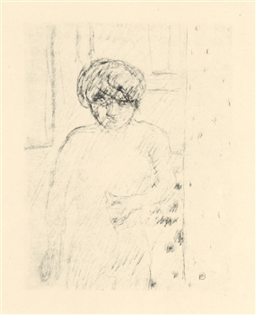 "Pierre Bonnard ""Buste"" original lithograph, edition of 20 on japon"