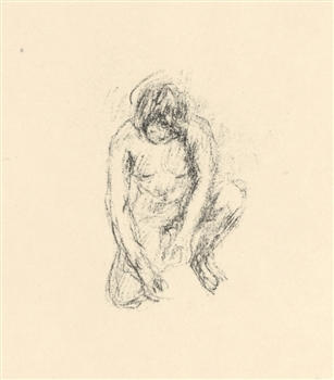 "Pierre Bonnard ""Femme accroupie"" original lithograph, edition of 20 on japon"