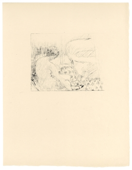 "Pierre Bonnard ""Nu assis"" original lithograph, edition of 20 on japon"