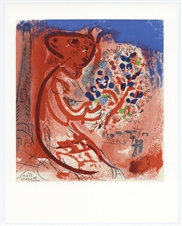 Marc Chagall lithograph | Homage to Raoul Dufy