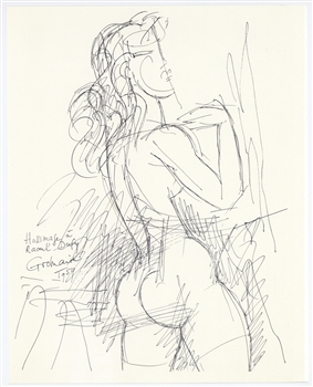 Marcel Gromaire lithograph Homage to Dufy