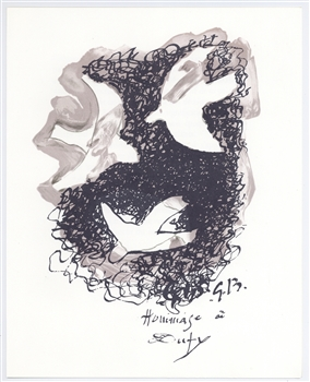 Georges Braque lithograph | Homage to Dufy
