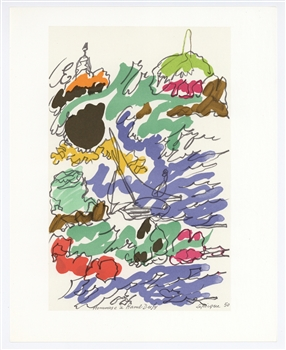 "Charles Lapicque lithograph ""Homage to Dufy"""