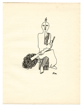 Jean Cocteau copper plate engraving