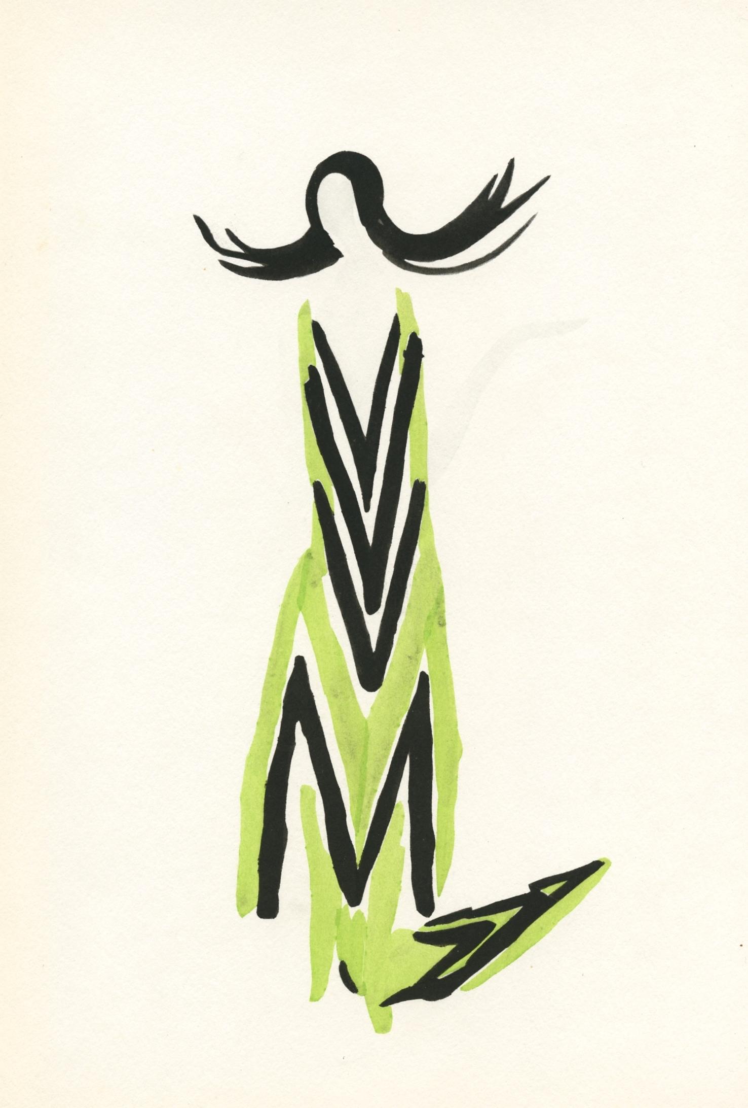 Sonia Delaunay Pochoir Petit Parigot