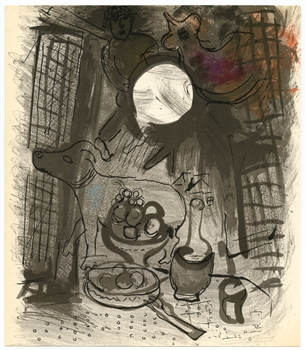 "Marc Chagall ""Nature morte brune"" original lithograph"