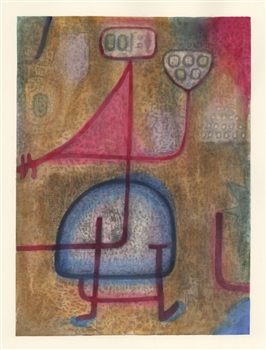 "Paul Klee pochoir ""The Beautiful Gardener"""