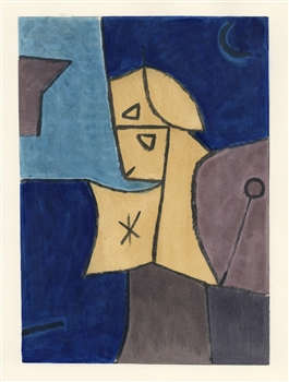 "Paul Klee pochoir ""Astral Sentinel"""