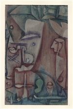 "Paul Klee pochoir ""Liberation of the Soul (Abandon)"""