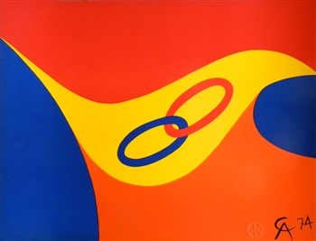 "Alexander Calder original lithograph ""Friendship"""
