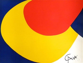 "Alexander Calder original lithograph ""Convection"""