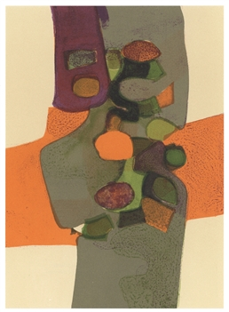 "Andre Minaux ""Nature morte aux fruits"" original lithograph"