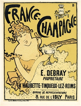 "Pierre Bonnard lithograph ""France - Champagne"""