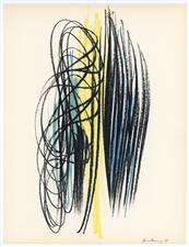 Hans Hartung original lithograph, 1959