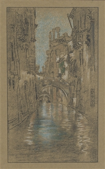 "James Whistler lithograph ""A Venetian Canal"" 1905"
