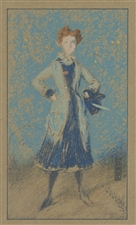"James Whistler lithograph ""The Blue Girl"""