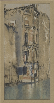 "James Whistler lithograph ""The Old Marble Hall, Venice"" 1905"