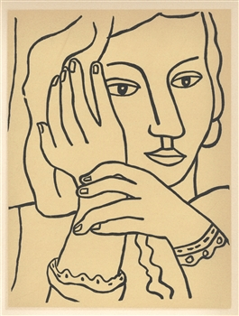 "Fernand Leger lithograph ""Femme accoudee"" edition of 1000"