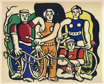 "Fernand Leger lithograph ""La belle equipe"" edition of 1000"