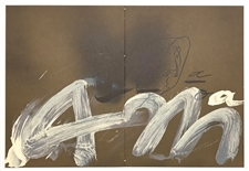 Antoni Tapies original lithograph, 1982