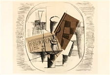 "Georges Braque lithograph ""Papiers Colles II"""