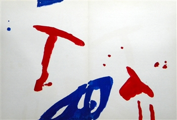 Pierre Tal-Coat original lithograph, 1962