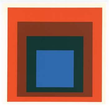 "Josef Albers serigraph ""Homage to the Square"""