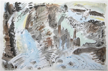 "Andre Masson original lithograph ""Le Torrent"""