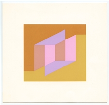 "Josef Albers silkscreen ""Never Before"""