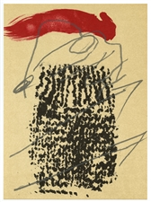 Antoni Tapies original lithograph, 1979