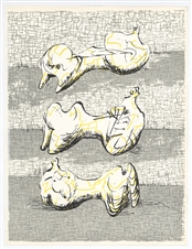Henry Moore original lithograph, 1972