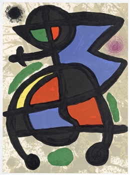 Joan Miro original lithograph, 1970