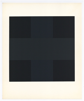 Ad Reinhardt serigraph (Composition in Black)