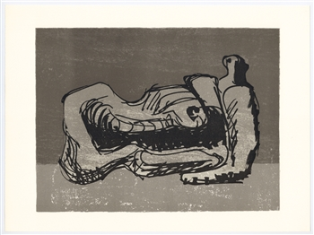 Henry Moore original lithograph | Homage to San Lazzaro, 1975
