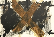 Antoni Tapies original lithograph, 1972