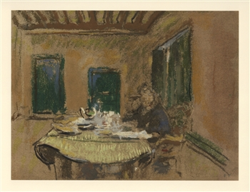 Edouard Vuillard lithograph with pochoir