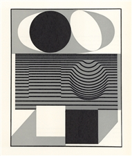 "Victor Vasarely serigraph ""Ondho"", 1961"