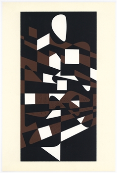 Victor Vasarely color silkscreen, 1961