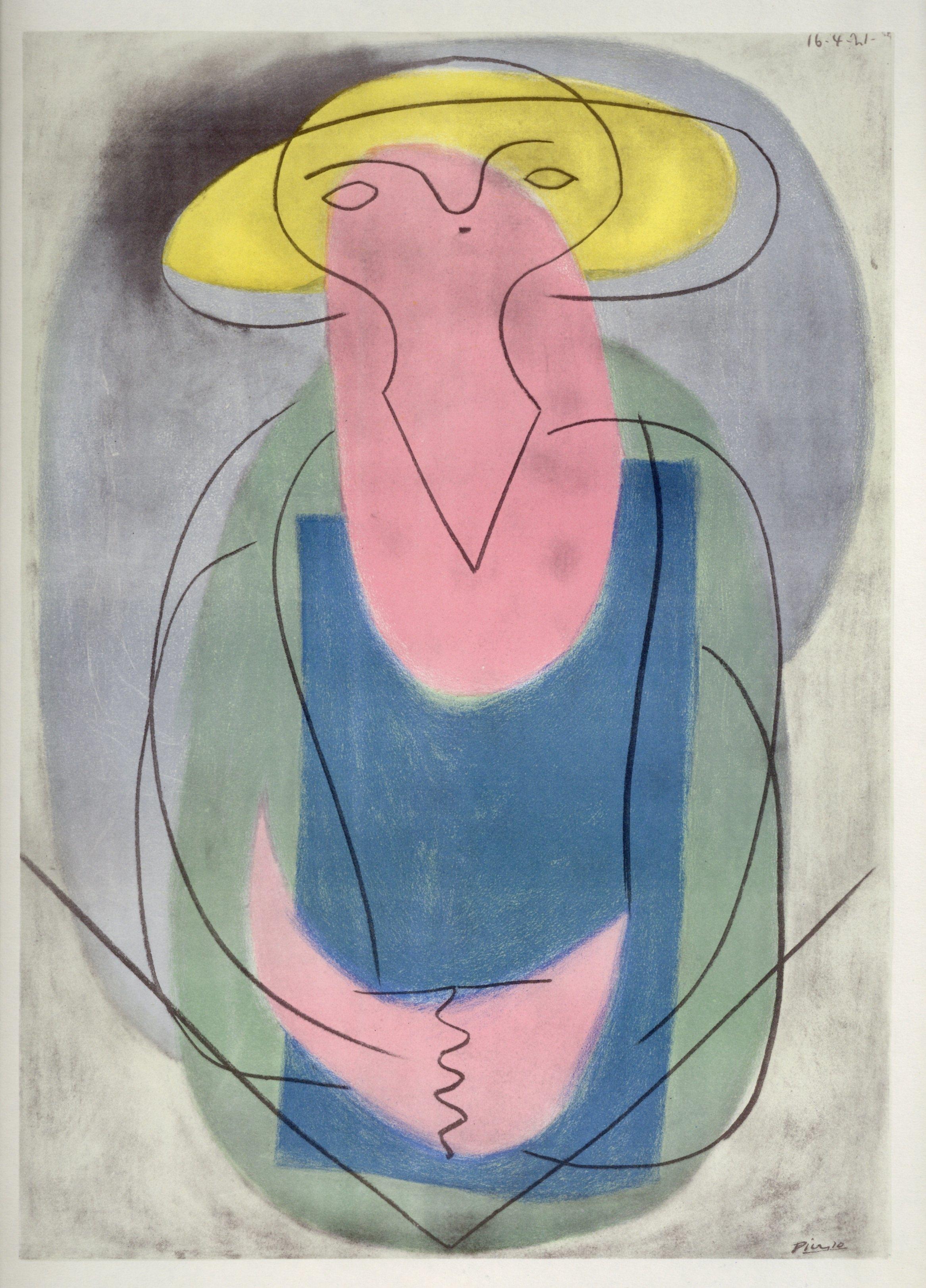 Pablo Picasso (Portrait de femme) lithograph pochoir, edition of 500