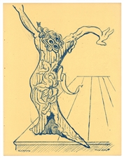 "Max Ernst ""Elektra"" original lithograph, 1939 first edition"