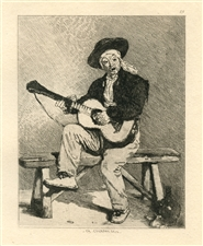 "Edouard Manet ""Le Guitariste"" etching"