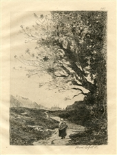 Jean-Baptiste Corot etching