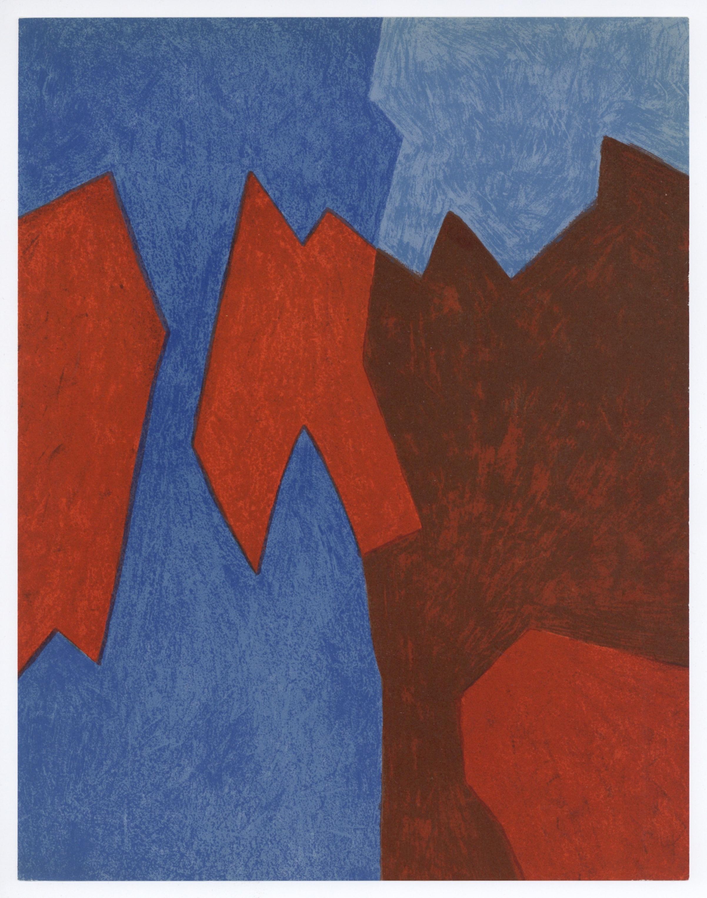 252f7d55aa9 Serge Poliakoff original lithograph tachisme